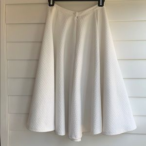 J.O.A. Skirts - J.O.A White Textured Circle Skirt